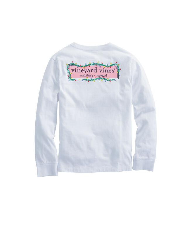 Boys Long-Sleeve Lights Logo Box Pocket T-Shirt