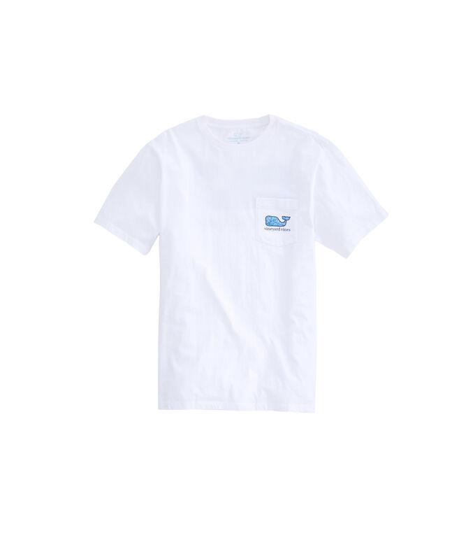 Tarpon Sketch Whale Fill Pocket T-Shirt
