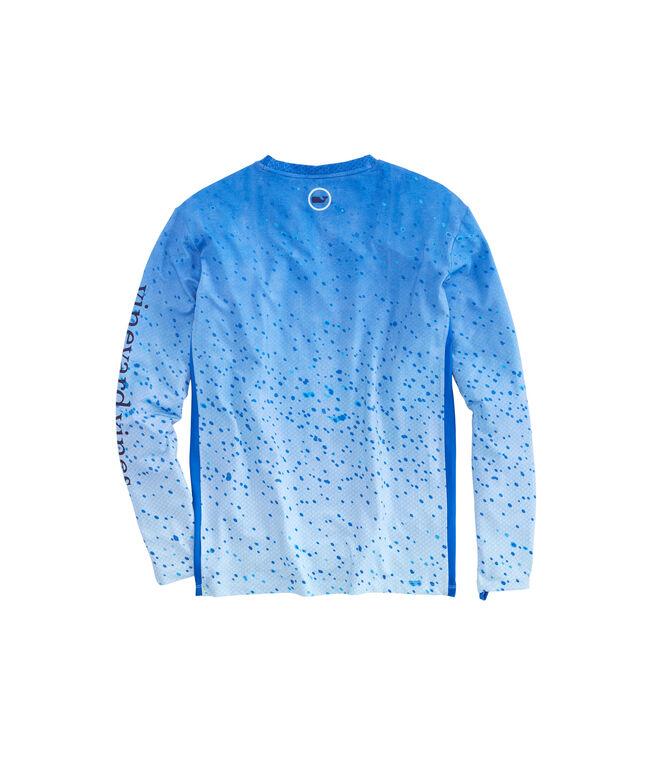Long-Sleeve Performance Mahi Scale T-Shirt