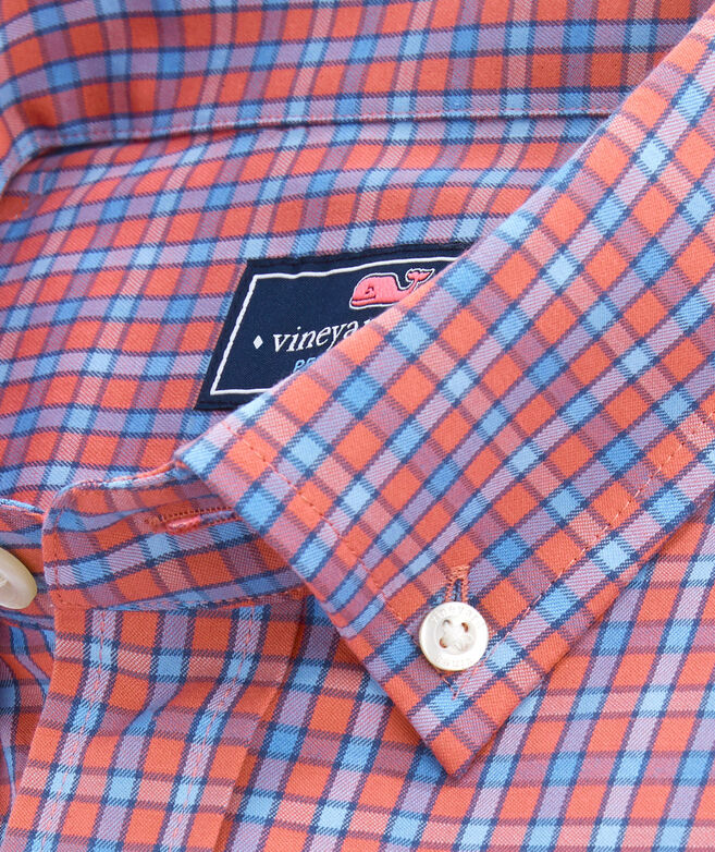 OUTLET Delancy Check Performance Slim Whale Shirt