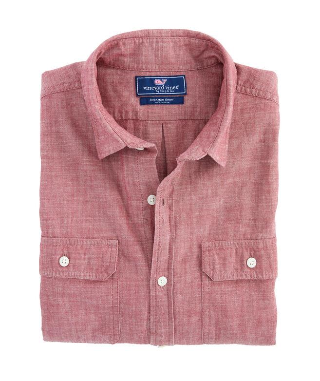 Slim Sea Breeze Solid Dockman Shirt
