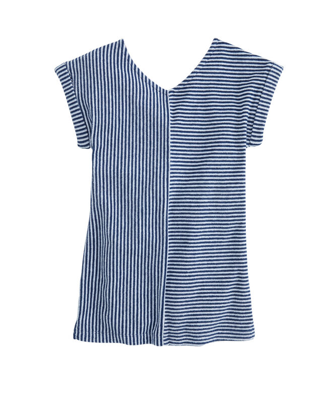 Girls Vineyard Stripe Mix Knit Cover-Up