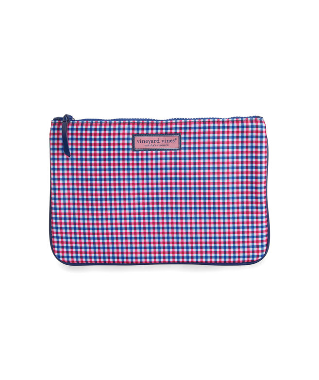 Gingham Nylon 3-Pack Cosmetic Case