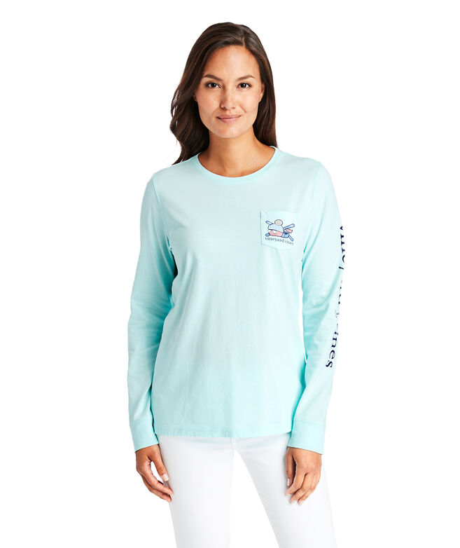 Apres Ski Whale Long-Sleeve Pocket Tee