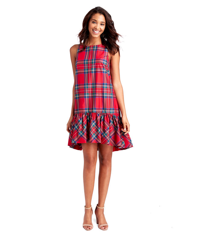 Jolly Plaid Swing Dress