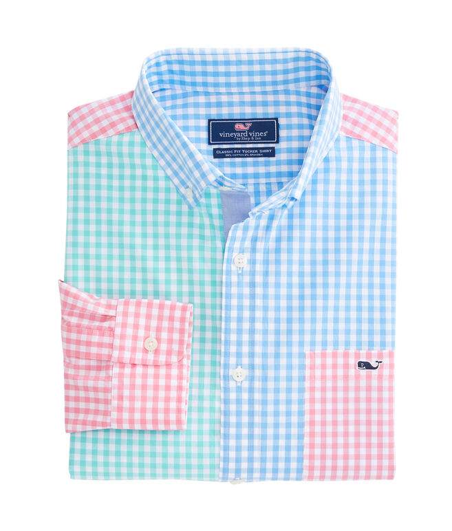 Carleton Gingham Party Stretch Tucker Shirt