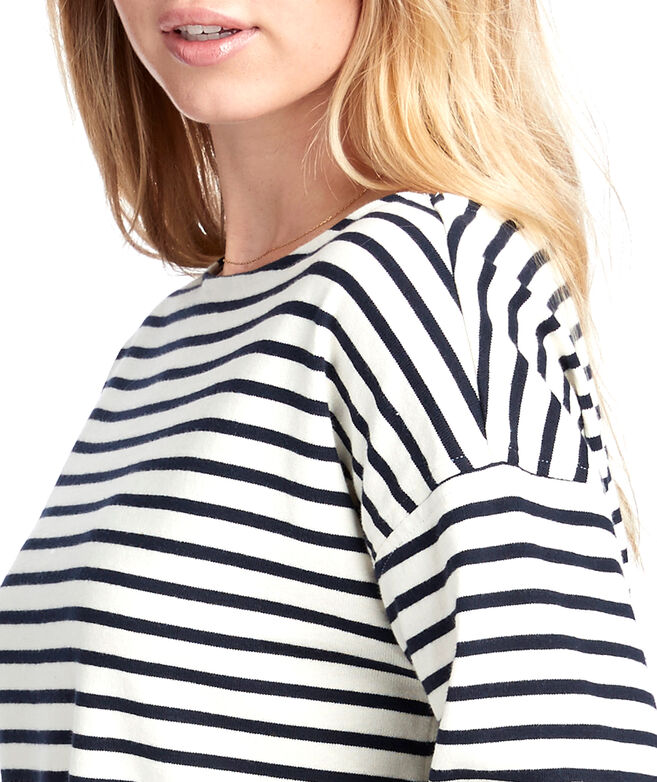 Long-Sleeve Striped Knit Top