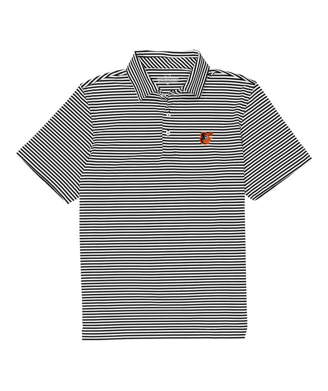 Baltimore Orioles Winstead Stripe Sankaty Performance Polo