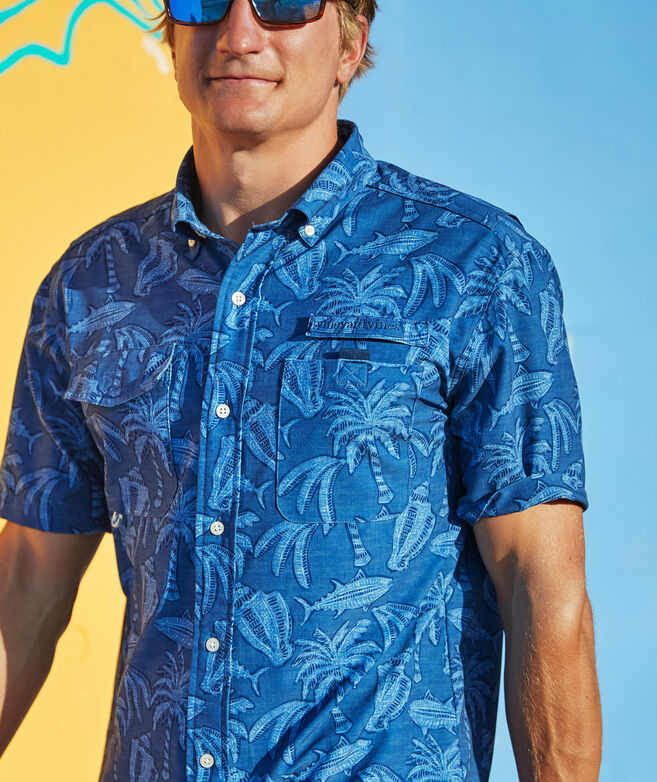 Island Icons Short-Sleeve Harbor Shirt