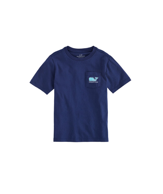 Boys Summer Sailing Whale Fill Pocket T-Shirt
