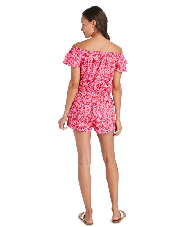 Tile Otomi Off-The-Shoulder Romper