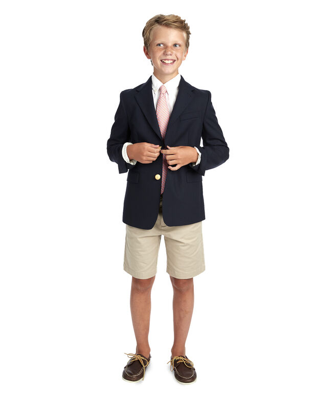 Kids' Stretch Navy Blazer (8-18)