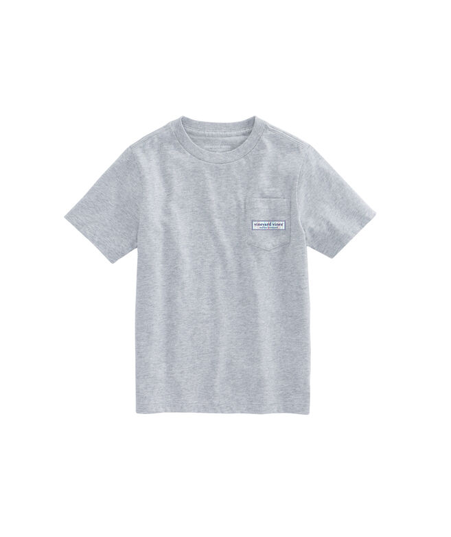 Boys Hockey Rink Logo Box Pocket T-Shirt
