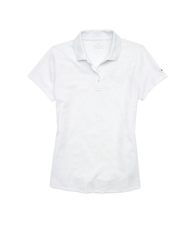 Womens Short-Sleeve Pique Polo