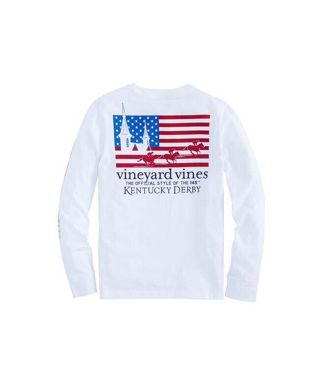 Kids Long-Sleeve Kentucky Derby USA Pocket T-Shirt