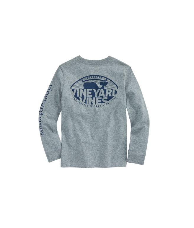 Boys Long-Sleeve Gridiron Pocket T-Shirt
