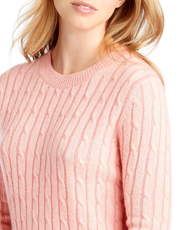 Plaited Cashmere Coral Lane Sweater