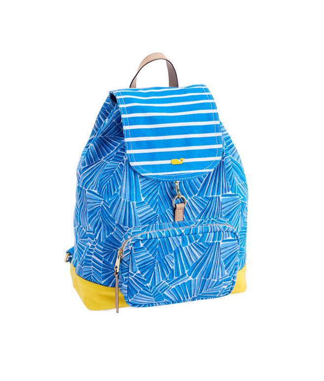 Abstract Leaves Print Day Pack
