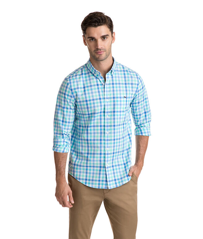Eagle's Nest Gingham Slim Tucker Shirt