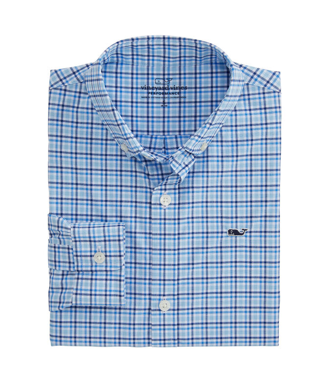 Boys Fjord Performance Whale Button-Down Shirt