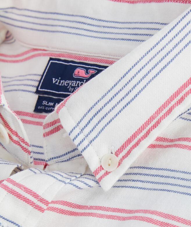 Slim Fit Cain Stripe Longshore Shirt