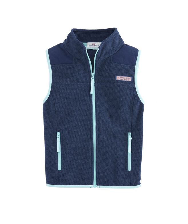 a529d1bcd16 Shop Girls Fleece Shep Vest at vineyard vines