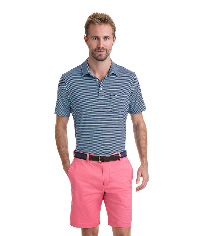Contrast Feeder Stripe Edgartown Polo