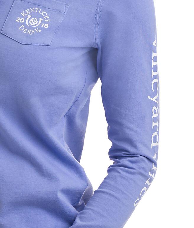 Long-Sleeve Kentucky Derby Logo Hoodie Pocket Tee