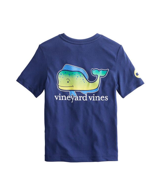 Shop boys short sleeve performance dolphin whale t shirt for Whale emblem on shirt