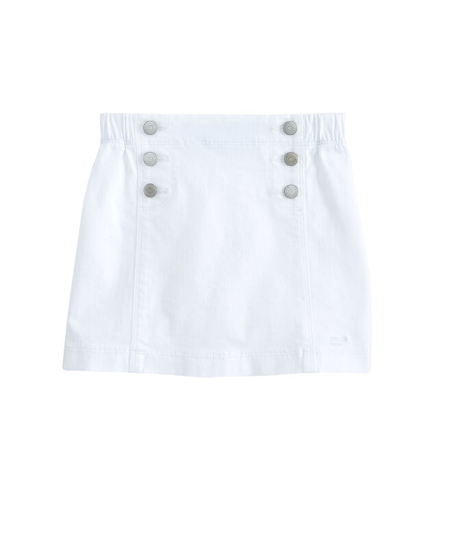 Girls Denim Sailor Skirt
