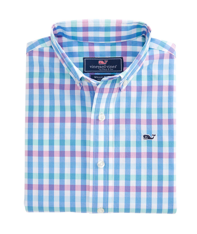 Boys Crystal Reef Check Whale Shirt