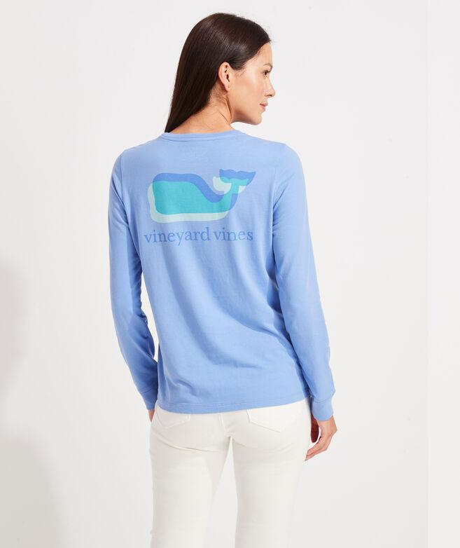 Overlayed Whale Long-Sleeve Pocket Tee