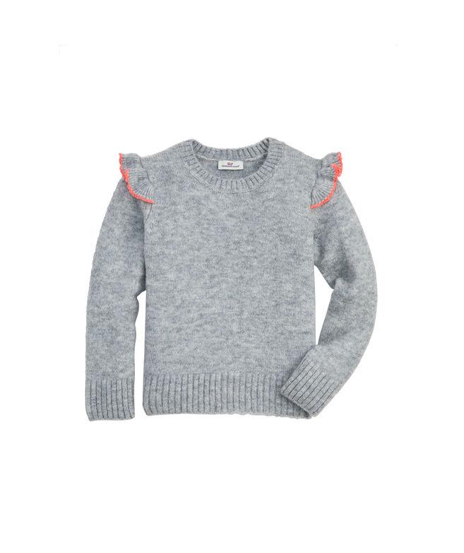 Girls Flutter Sleeve Sweater