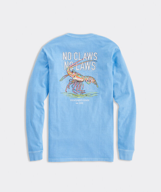 Garment-Dyed Neon Spiny Lobster Long-Sleeve Pocket Tee