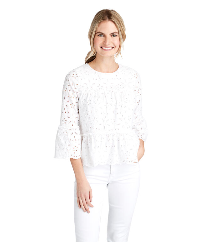 Eyelet Tiered Top