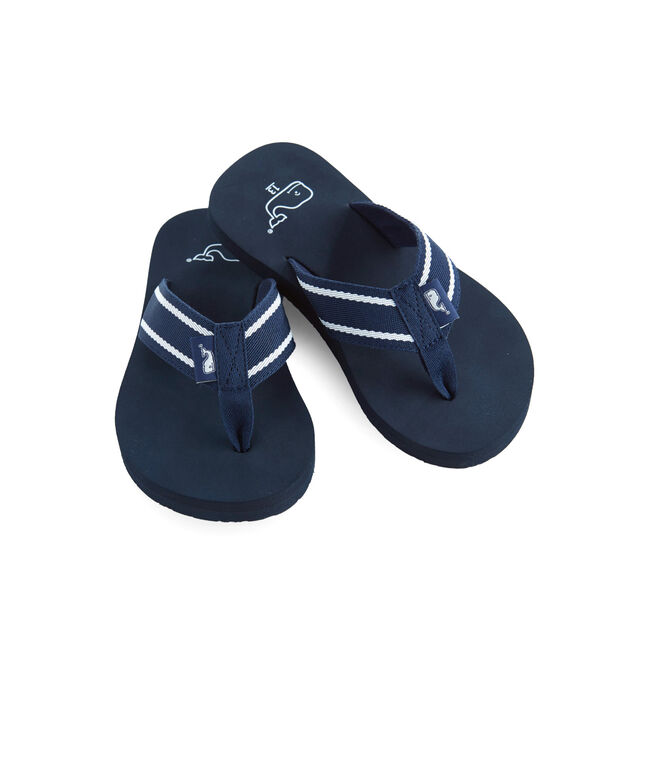 Boys Sailor Stripe Flip Flops
