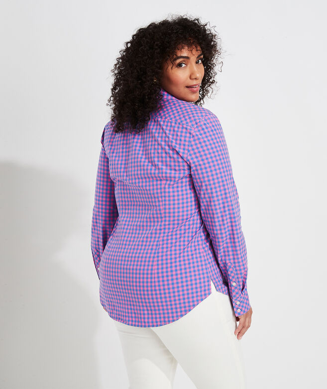 Beach Street Gingham Chilmark Classic Button-Down Shirt