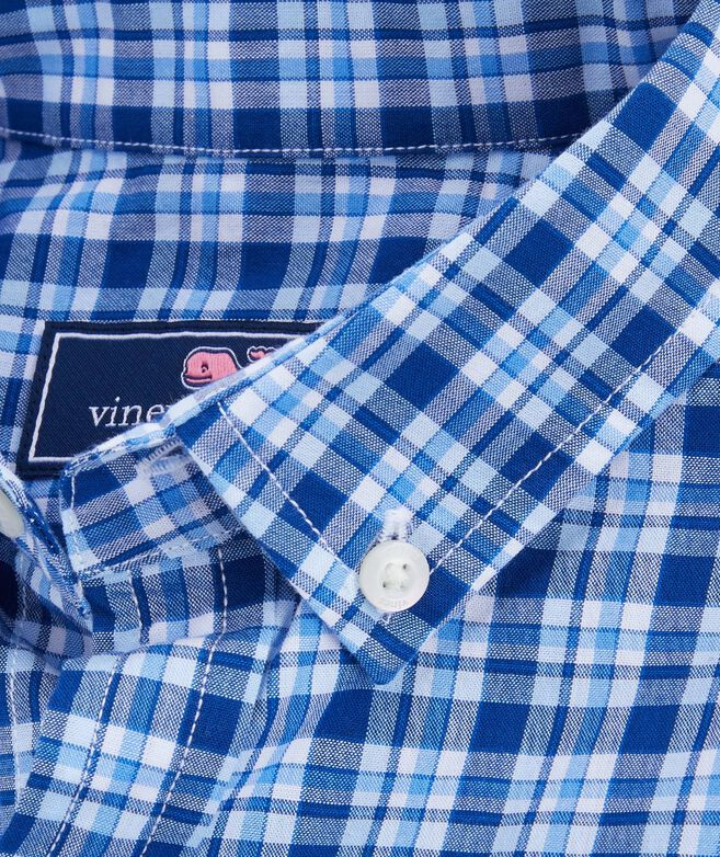 Boys Atlantic Plaid Whale Shirt