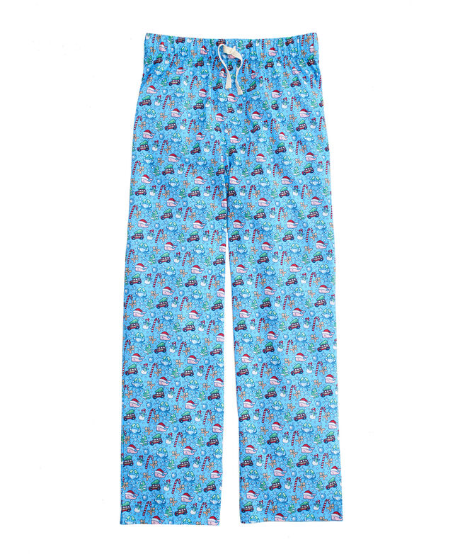 OUTLET Kids' Holiday Multi-Icon Whale Lounge Pants