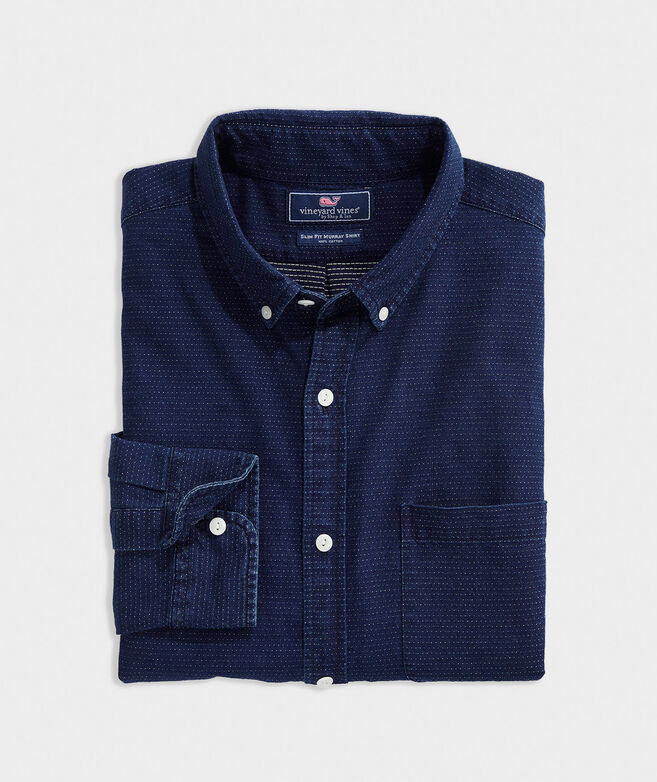 Slim Fit Indigo Dobby Murray Button-Down Shirt