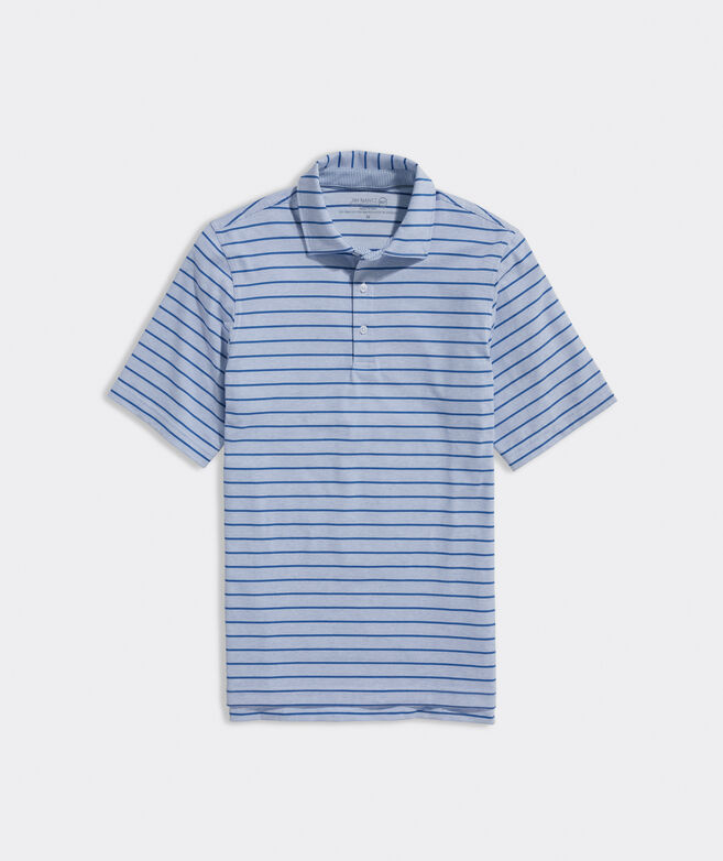 Heathered Friar's Head Stripe Polo