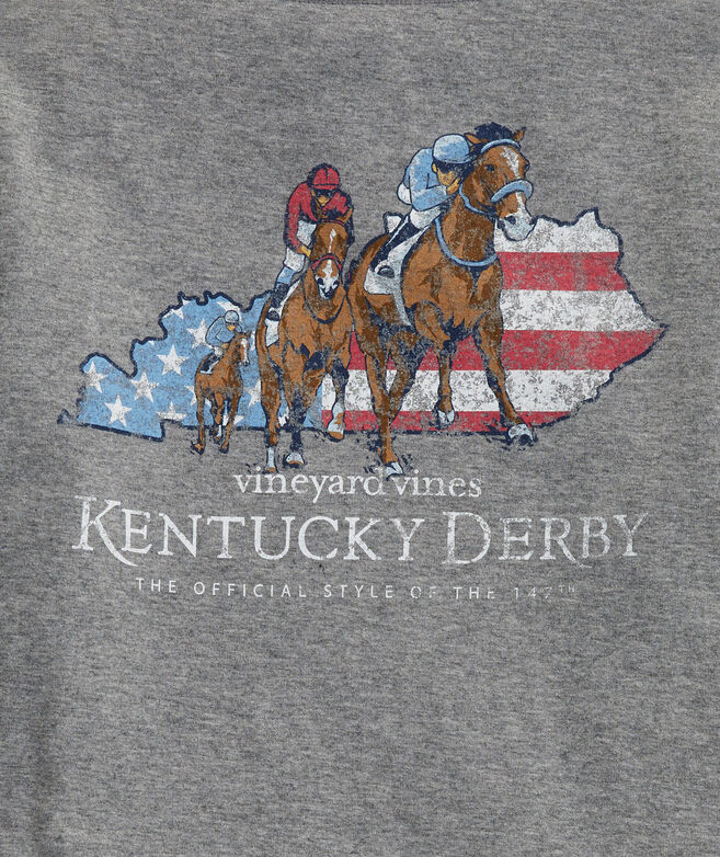 Kentucky Derby 2021 Boys' Long-Sleeve Americana Derby Pocket Tee