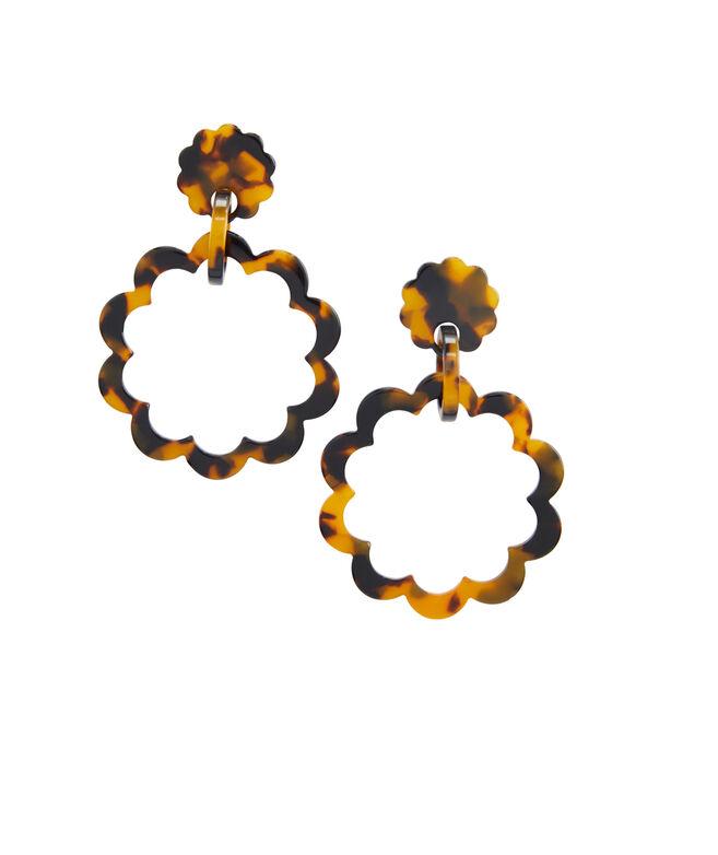 Tortoise Floral Earrings