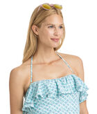 Tiny Leaves Ruffle Tankini Top