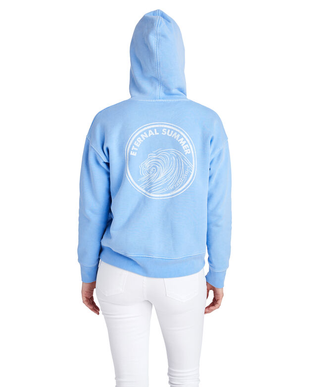 Over-Dyed Graphic Full-Zip Hoodie
