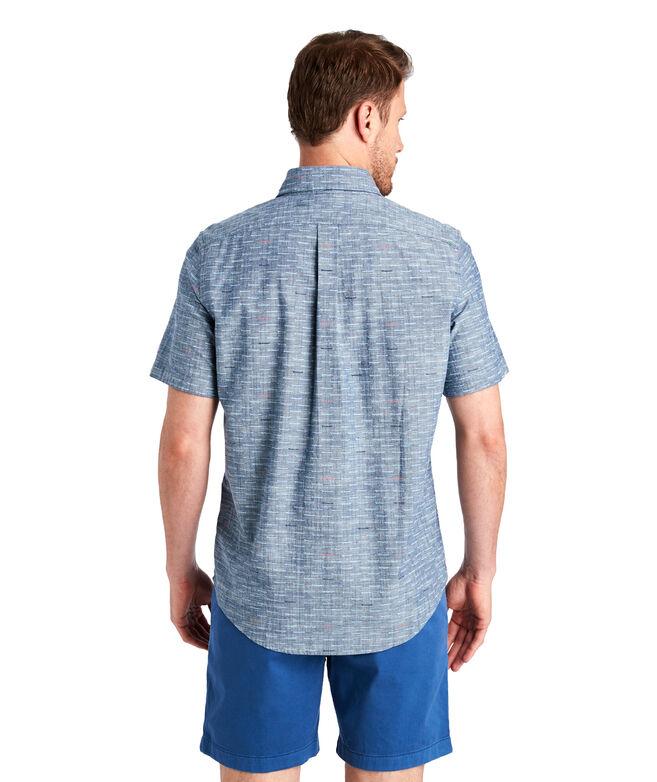 Slim Fit Surfboards Short-Sleeve Tucker Shirt