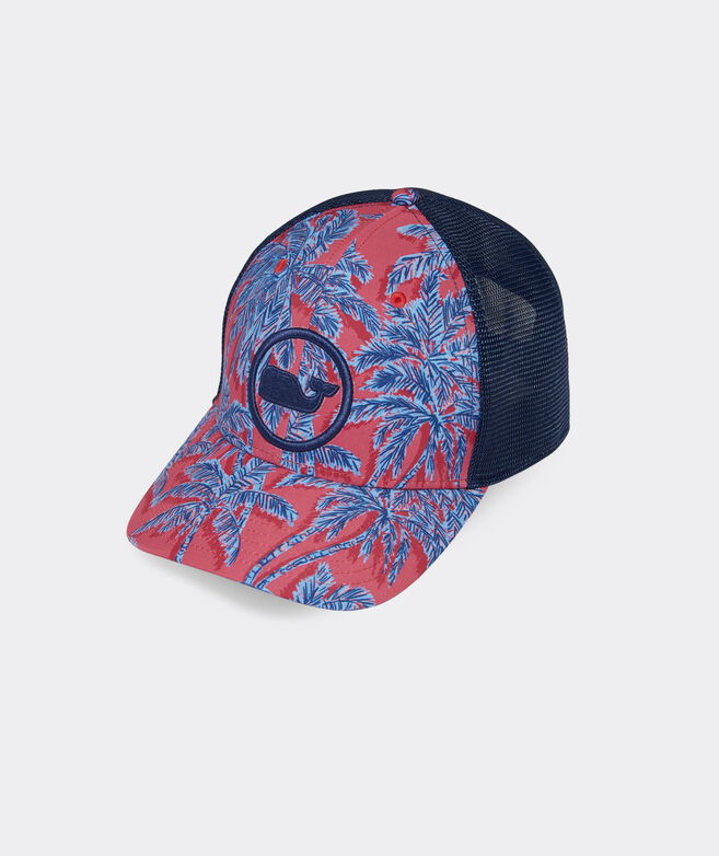 Palms Whale Dot Performance Trucker Hat