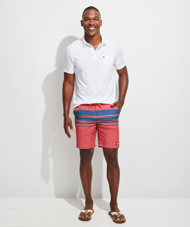 Striped Board Shorts