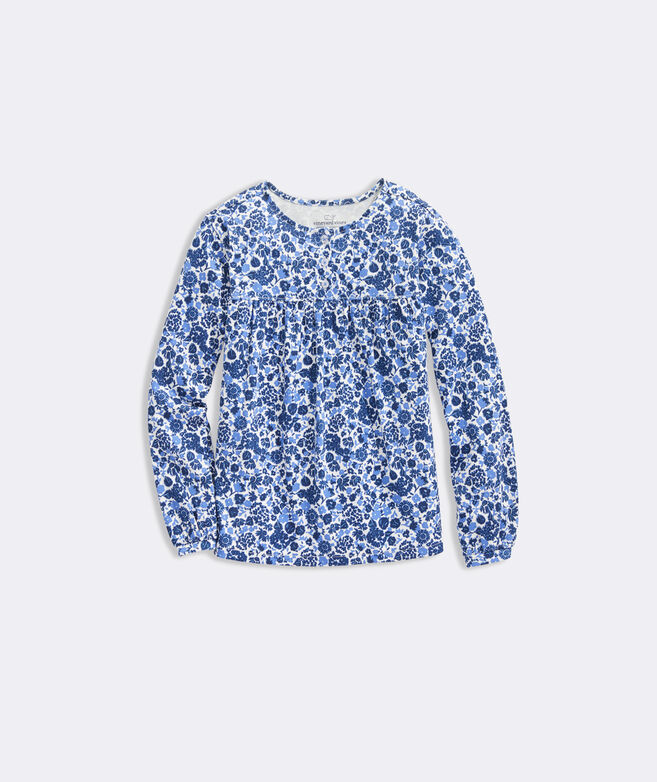 Girls' Among The Flowers Knit Top