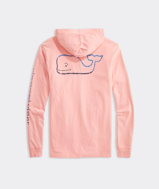 Burgee Whale Hoodie Long-Sleeve Pocket Tee